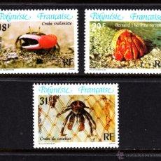 Timbres: POLINESIA 246/48** - AÑO 1986 - FAUNA - CANGREJOS. Lote 50695608