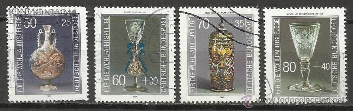 7422-ALEMANIA SERIE COMPLETA AÑO 1986 Nº1129/32.ANTIGUEDADES,MUSEOS.SOBRETASAS.SELLOS PARA BENEFICEN (Sellos - Temáticas - Fauna)