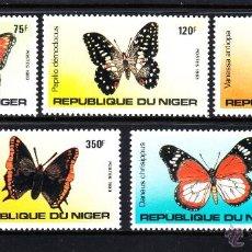Sellos: NIGER 625/29** - AÑO 1983 - FAUNA - MARIPOSAS . Lote 51433919