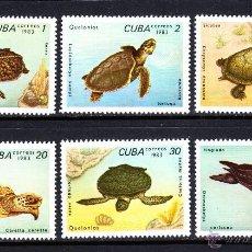 Sellos: CUBA 2462/67** - AÑO 1983 - FAUNA MARINA - TORTUGAS. Lote 51573873