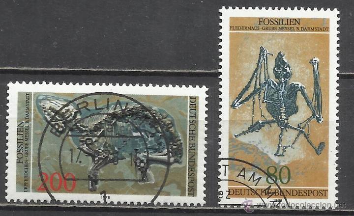 8313--SERIE COMPLETA ALEMANIA FOSILES 1978 821/2. 7,00€. -SERIE 1978 FOSSILI COMPLETI GERMANIA 821 S (Sellos - Temáticas - Fauna)