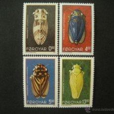 Sellos: FEROE 1995 IVERT 268/71 *** FAUNA - INSECTOS - LAS CIGARRAS. Lote 54201393