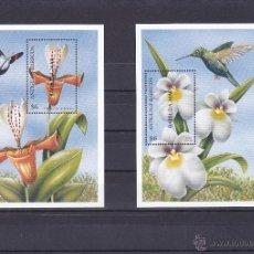 Sellos: ANTIGUA Y BARBUDA.1997.MARIPOSAS/PAJAROS/FLORES.Y.-HB-370/371.NUEVAS.. Lote 54664577