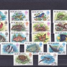Sellos: BERMUDAS.1978.MARIPOSAS/PAJAROS/FLORES.Y.-353/369.NUEVA.. Lote 54665853