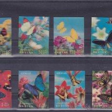 Sellos: BHUTAN.1968.MARIPOSAS/FLORES.Y.-170/173-A30/33.NUEVA.. Lote 54665901