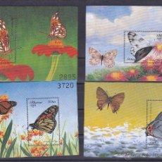 Sellos: BHUTAN.1999.MARIPOSAS/FLORES.Y.-HB-378/381.NUEVAS.. Lote 54666258