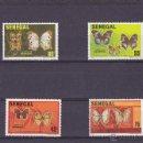 Sellos: SENEGAL.1982.MARIPOSAS.Y.-566/569.NUEVO.. Lote 54790728