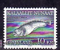 GROENLANDIA 1984 IVERT 142 *** FAUNA LOCAL - PEZ GATO (Sellos - Temáticas - Fauna)