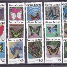 Sellos: SIERRA LEONA.1987.MARIPOSAS/FLORES.Y.-794/808.NUEVO.. Lote 54813732