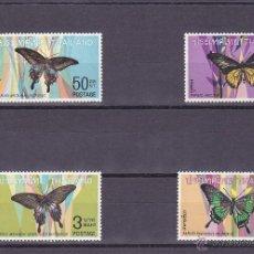Sellos: TAILANDIA.1968.MARIPOSAS.Y. 498/501-.NUEVO.. Lote 54816692