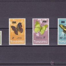 Sellos: TANZANIA.1975.MARIPOSAS.Y. 48/51-.NUEVO.. Lote 54816818