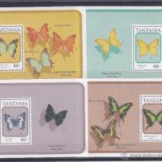 Sellos: TANZANIA.1991.MARIPOSAS.Y. HB-125-143-155/56.NUEVO.. Lote 54816962