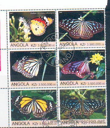 ANGOLA & MARIPOSAS (11) (Sellos - Temáticas - Fauna)