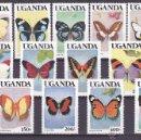 Sellos: UGANDA.1989.MARIPOSAS.Y.-607/619.NUEVO.. Lote 54852216