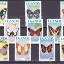 Sellos: UGANDA.1990.MARIPOSAS.Y.-608A/617A.NUEVO.. Lote 54852241