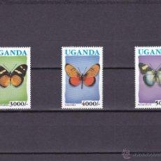 Sellos: UGANDA.1992.MARIPOSAS.Y.-853/854A.NUEVO.. Lote 54852256