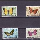 Sellos: VIRGENES B. ISLANDS.1978.MARIPOSAS.Y.-350/353.NUEVO.. Lote 54852516