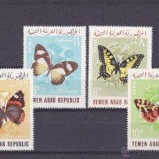Sellos: YEMEN REP. ARABE.1966.MARIPOSAS.Y.-A 56/59.NUEVO.. Lote 54852588