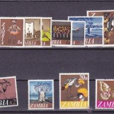 Sellos: ZAMBIA.1968,MARIPOSAS/PAJAROS/FAUNA.Y.-39/50.NUEVO.. Lote 54852670