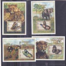 Sellos: ZAMBIA.2000.MARIPOSAS/FAUNA.Y.-HB-68/69-71/72?.NUEVO.. Lote 54852729