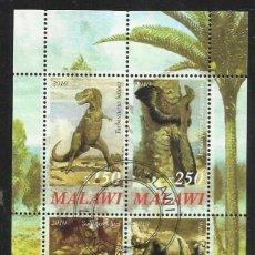 Sellos: MALAWI 2010 HOJA BLOQUE SELLOS FAUNA PREHISTORICA- DINOSAURIOS- DINOSAURS- DINOSAURIO . Lote 56166137
