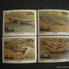 Sellos: VENDA 1992 IVERT 245/8 *** FAUNA - CICLO DE LA REPRODUCIÓN DEL COCODRILO. Lote 57218934
