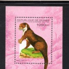 Sellos: GUINEA HB 110C** - AÑO 1995 - FAUNA - ANIMALES SALVAJES - NUTRIA. Lote 57698627