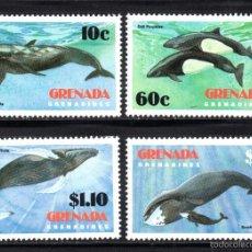 Sellos: GRANADA GRANADINAS 472/75** - AÑO 1982 - FAUNA MARINA - CETÁCEOS. Lote 58573994
