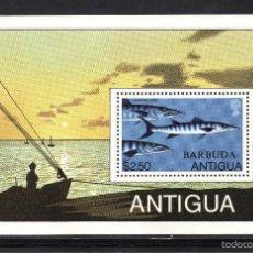 Sellos: BARBUDA HB 44** - AÑO 1979 - FAUNA MARINA - PECES - PESCA DEPORTIVA. Lote 60695071