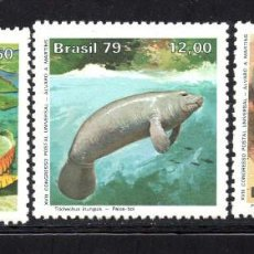Sellos: BRASIL 1365/67** - AÑO 1979 - FLORA - FAUNA - PROTECCION DE LA NATURALEZA. Lote 62570992