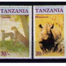 Sellos: TANZANIA TANZANIE 1986 - FAUNA SALVAJE - YVERT Nº 285 / 288 ** MNH. Lote 66170946