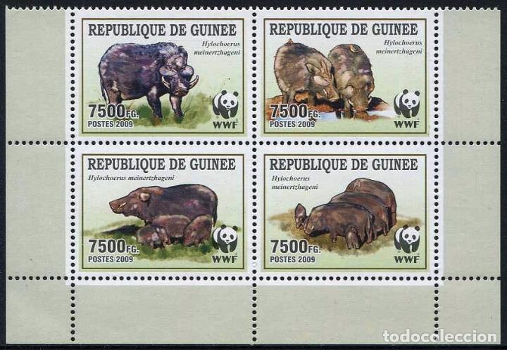 GUINEA REPUBLICA - WWF (AÑO 2009) ** (Sellos - Temáticas - Fauna)