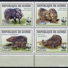 Sellos: GUINEA REPUBLICA - WWF (AÑO 2009) **. Lote 192390145