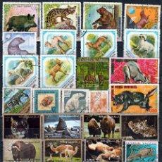 Sellos: SELLOS TEMATICA : ANIMALES. LOTE 245 SELLOS DIFERENTES. *,MH(17-584). Lote 80645278