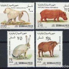 Sellos: SOMALIA 1989 IVERT 358/61 *** FAUNA LOCAL. Lote 87252704