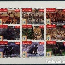 Sellos: SIERRA LEONA 1995 IVERT 1926/34 *** FAUNA - PROTECCIÓN DE ANIMALES SALVAJES - CENTENARIO SIERRA CLUB. Lote 87323288