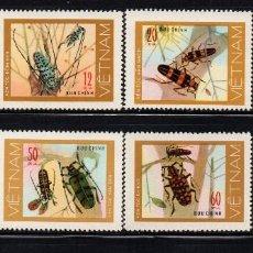 Timbres: VIETNAM 56/63** - AÑO 1977 - FAUNA - INSECTOS - COLEÓPTEROS. Lote 89534016