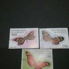 Sellos: SELLOS DE R. DE GUINEA MATASELLADOS. 1998. MARIPOSAS. FAUNA. NATURALEZA.. Lote 96196939