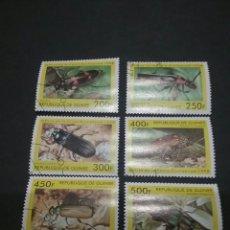Sellos: SELLOS DE LA REPÚBLICA DE GUINEA. 1998. ESCARABAJOS. ANIMALES. FAUNA. NATURALEZA. . Lote 96197007