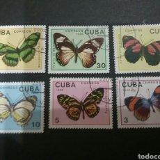 Sellos: SELLOS DE CUBA MATASELLADOS. 1989. MARIPOSAS. ANIMALES. FAUNA. NATURALEZA. INSECTOS. . Lote 98831464