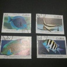 Sellos: SELLOS DE CUBA MATASELLADOS. 1992. PECES. ANIMALES. FAUNA MARINA. NATURALEZA.. Lote 98844347