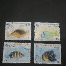 Sellos: SELLOS DE CUBA MATASELLADOS. 1995. PECES. ANIMALES. FAUNA. VIDA MARINA. FAUNA MARINA. . Lote 98845406