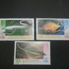 Sellos: SELLOS DE CUBA MATASELLADOS. 1998. PECES. ANIMALES. FAUNA MARINA. PROFUNDIDADES. NATURALEZA.. Lote 98849624