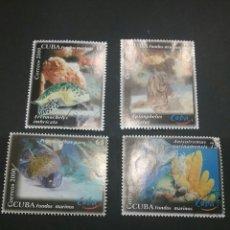 Sellos: SELLOS DE CUBA MATASELLADOS. 2000. PECES. TURISMO. SUBMARINO. FAUNA MARINA. NATURALEZA. ANIMALES. . Lote 98850778