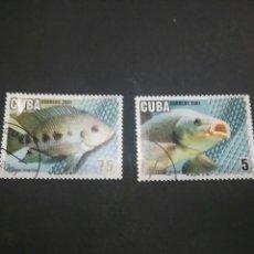 Sellos: SELLOS DE CUBA MATASELLADOS. 2001. PECES. ACUARIOS. ANIMALES. FAUNA MARINA. NATURALEZA. . Lote 98851007