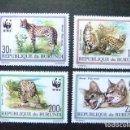 Sellos: BURUNDI 1992 FAUNE WWF YVERT 968 / 71 ** MNH. Lote 103503703