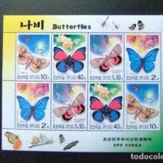 Sellos: COREA DEL NORTE DPR KOREA 2002 FAUNA BUTTERFLIES PAPILLONS FAUNA MARIPOSAS YVERT 3182 / 85 ** MNH . Lote 104346155