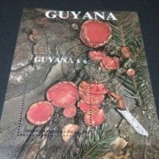 Sellos: HB/SELLOS DE GUAYANA MATASELLADA (GUYANA).1989. HONGOS. SETAS. LIQUENES. MOSGO. PLANTAS.ECOSISTEMA. Lote 104745859
