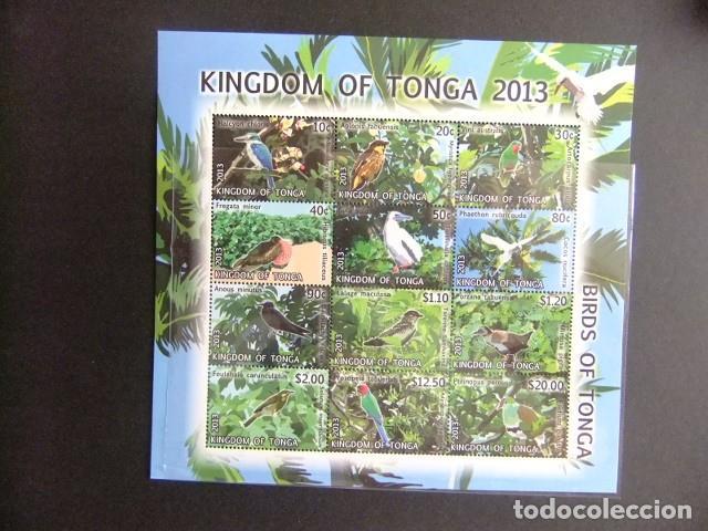 KINGDOM OF TONGA 2013 FAUNA PAJAROS BIRDS OISEAUX CAT Nº 1847 / 1858 ** MNH (Sellos - Temáticas - Fauna)