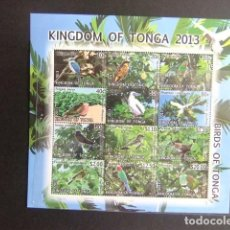 Sellos: KINGDOM OF TONGA 2013 FAUNA PAJAROS BIRDS OISEAUX CAT Nº 1847 / 1858 ** MNH . Lote 110436723